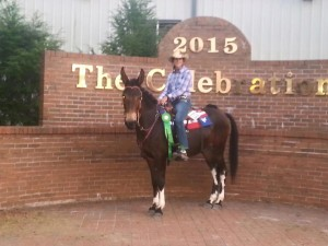 Laurie had a great time staying at Clearview! Congrats on your ribbon!