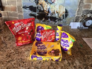 Apparently there's something magical about English Easter chocolates. Looks tasty!