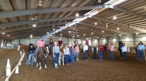We had a great turnout at the Western Dressage clinic!