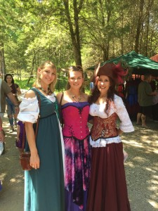 We loved hanging out at the Renaissance Festival!