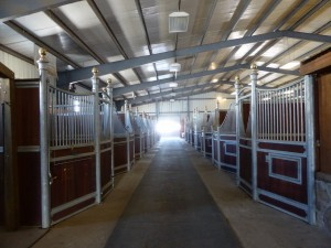 Call us to come check out our well-equipped show barn!