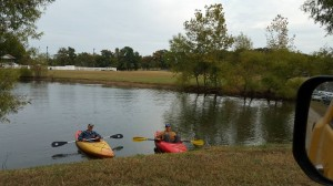 When you need a break from farm chores, why not go kayaking?