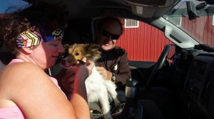 Sassy was so happy to go home with her family!