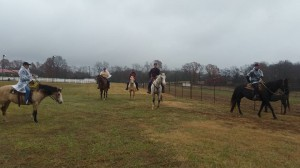 The weather may have been chilly, but the horses behaved like champions.