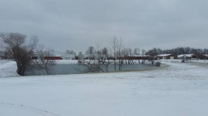We love how the farm looks covered with snow!
