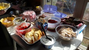 Western Dressage riders are also great cooks! Check out this spread!
