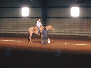 No college visit is complete without some time spent in the saddle!