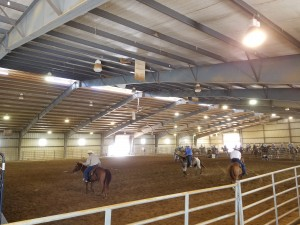 Our indoor arena was more than large enough to accommodate the action.