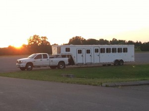 Horse trailers doubled as supply convoys for folks in Florida.