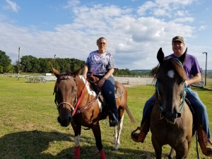 It was a great day for a trail ride around the farm!