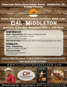 Cal Middleton @ Clearview Horse Farm Arena